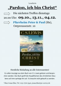 Lesekreis: Pardon ich bin Christ