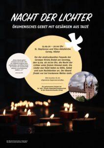Einladung zum Taize-Gebet nach Corvey