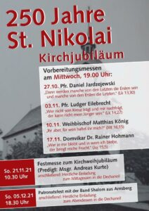 Plakat Kirchweih Jubiläum